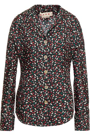 Marni Woman Printed Silk-will Shirt Size 36