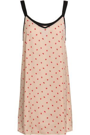 DKNY Woman Printed Crepe De Chine Nightdress Pastel Size XL