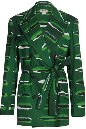 DRIES VAN NOTEN Women's Oversized Abstract Stripe Jacket - - Size XS