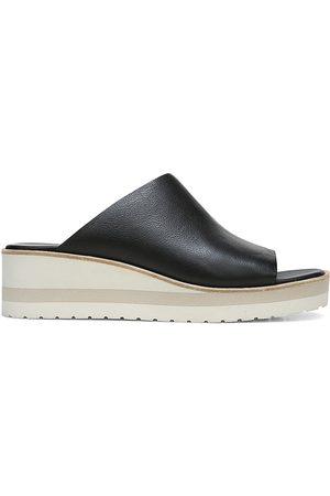 Vince Women's Sarria Leather Slide Sandals - - Size 9.5