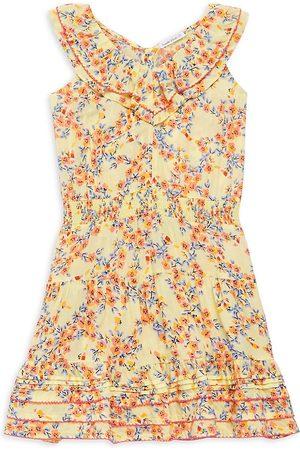 POUPETTE ST BARTH Girl's Della Ruffle Dress - Multi - Size 7