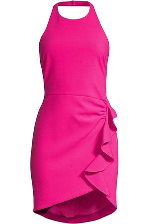 LIKELY Women's Fraya Ruffled Halter Dress - Fuchsia - Size 0