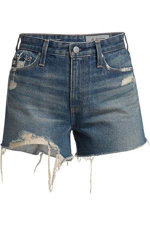 AG Jeans Women's Alexxis Distressed Denim Shorts - 8 Years Festival - Size 32