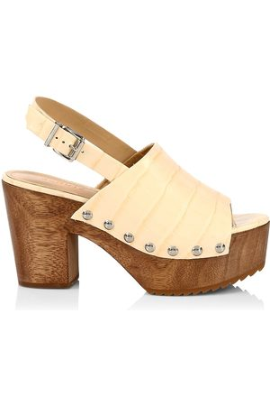 Schutz Women's Yeda Studded Sandals - Eggshell - Size 9
