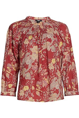 Paige Women's Jaylee Floral Top - Muted Multi - Size Small
