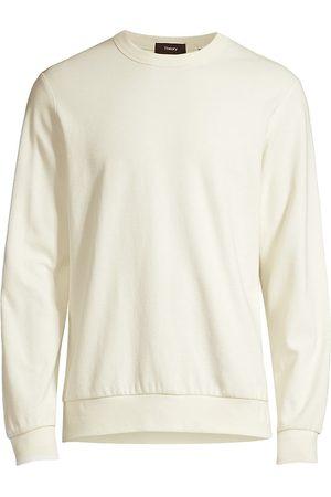 THEORY Men's Spring Waffle Relaxed-Fit Sweatshirt - Ivory - Size Medium
