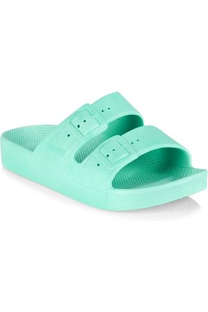 Freedom Moses Little Kid's and Kid's Miami Two-Strap Slides - - Size 8 (Toddler) Sandals
