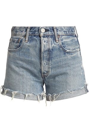 Moussy Women's Upland Distressed Denim Shorts - - Size 25
