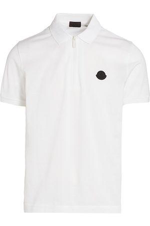 Moncler Men's Zip-Front Polo Shirt - - Size Large