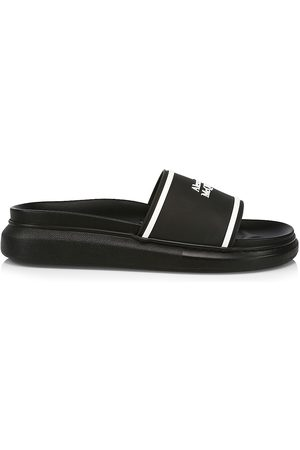 Alexander McQueen Men's Logo Slide Sandals - - Size 11.5