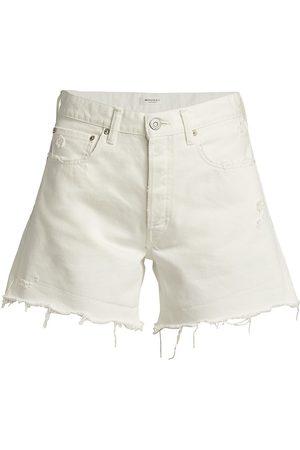 Moussy Women's Ship Rock Distressed Denim Shorts - - Size 26