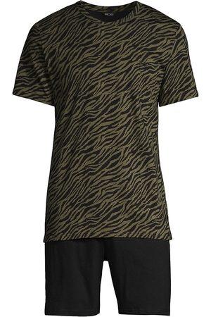 Hom Men's Canaille 2-Piece Short Pajama Set - Khaki - Size Small