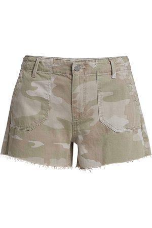 Paige Women's Mayslie Utlity Shorts - Camo - Size 27