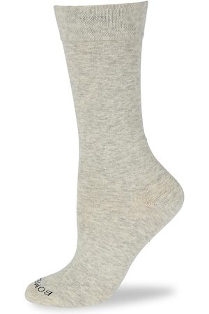 BOMBAS Women Socks - Women's Calf Socks - Light Grey - Size Medium