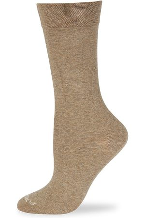 BOMBAS Women's Calf Socks - Khaki Heat - Size Medium