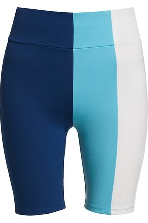 Staud Women's Cruise Colorblock Bike Shorts - Twilightwhite - Size XL
