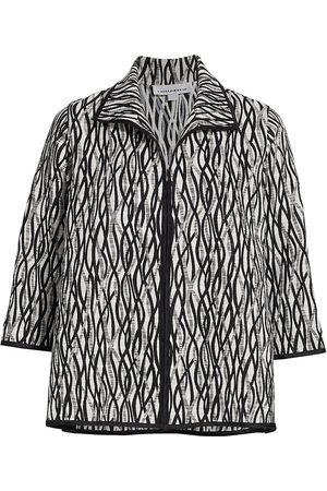 Caroline Rose Women's Layered Wave Jacket - - Size XS