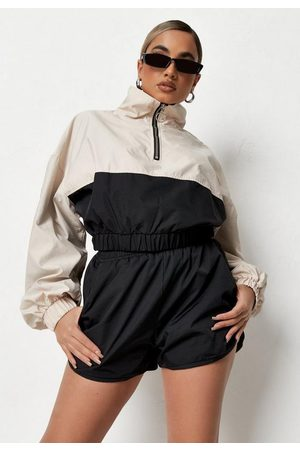 Missguided Co Ord Windbreaker Runner Shorts