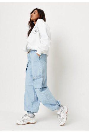 Missguided Light Combat Pocket Jogger Jeans