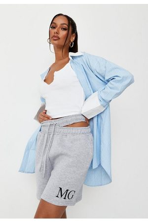Missguided Marl Mg Cut Out Detail Shorts