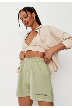 Missguided Women Shorts - Sage Jersey Boxer Shorts