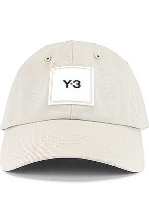 Y-3 Square Label Cap in Neutral