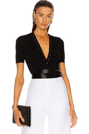 Alaïa Women Bodies - Viscose Button Bodysuit in