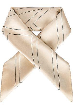 Totême Women Scarves - Embroidered Monogram Silk Scarf in Neutral