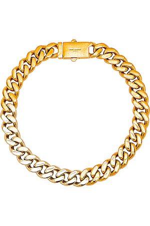 Saint Laurent Metal Chain Necklace in Metallic