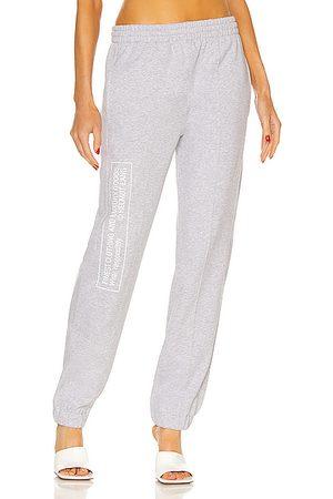 Helmut Lang Women Sweatpants - School Sweatpant in Grey