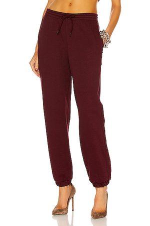WARDROBE.NYC Women Sweatpants - Track Pant in Burgundy
