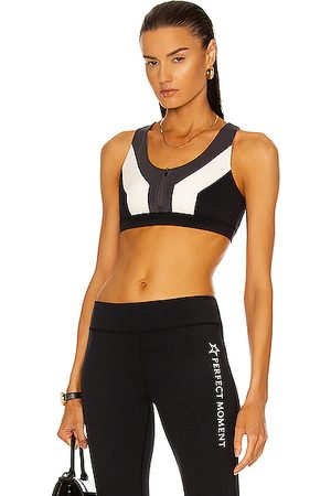 Perfect Moment Women Sports T-shirts - Vale Rainbow Seamless Fitness Top in