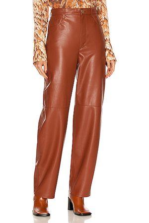 Nanushka Women Leather Pants - Radha Pant in Rust