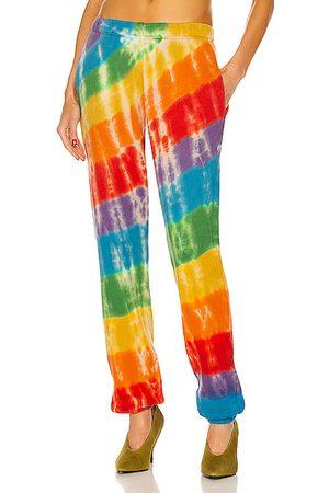 THE ELDER STATESMAN Women Sweatpants - Rainbow Void Sweatpant in Red
