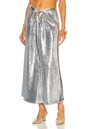 Paco rabanne Draped Sequin Skirt in Metallic