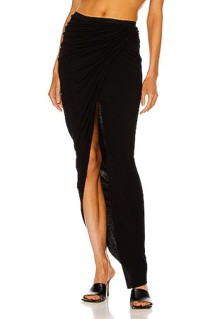 RICK OWENS LILIES Women Maxi Skirts - Ruched Hi-Low Skirt in