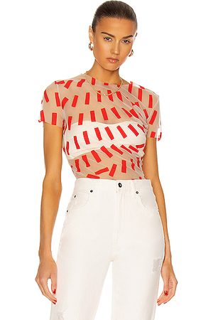 Maison Margiela Women Short Sleeve - Short Sleeve T Shirt in Red