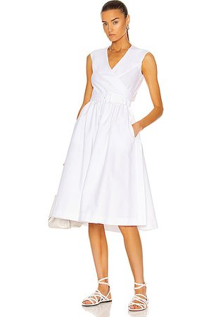 Alaïa Women Sleeveless Dresses - Longue Pique De Cotton Dress in