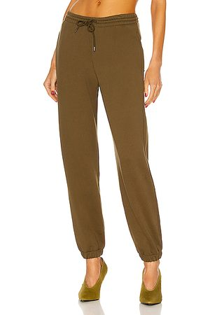 WARDROBE.NYC Women Sweatpants - Track Pant in Army