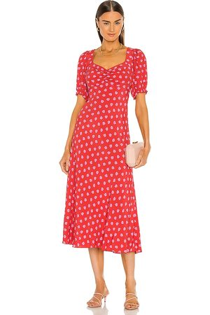 Diane von Furstenberg Jade Dress in Red.