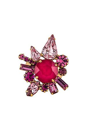 ELIZABETH COLE Jana Ring in Fuchsia.