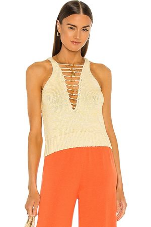 Dannijo Cotton Crochet Beaded Tank in .