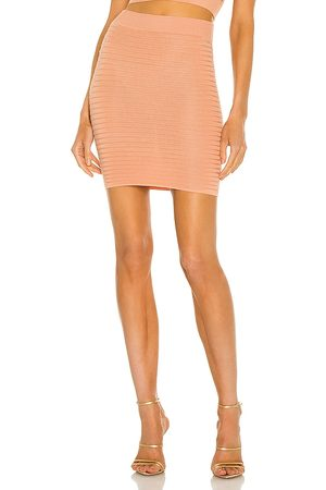 Michael Costello X REVOLVE Ambrose Mini Skirt in Blush.