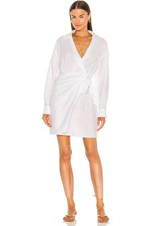 Vince Long Sleeve Wrap Shirt Dress in .