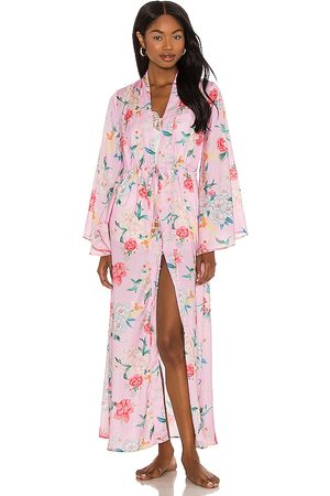 Plush Silky Floral Kimono in .