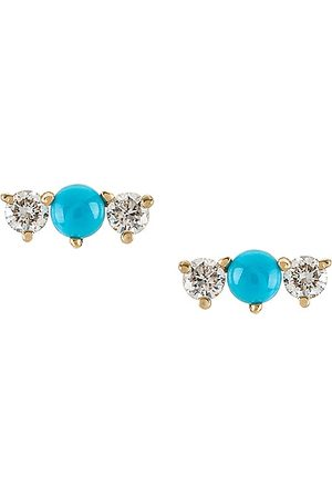 EF Collection Single Bar Stud Earring in Turquoise.