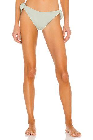 Minkpink Marseille Tie Side Bikini Bottom in Sage.