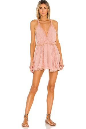 CHIO Short Frill Dress in Blush.