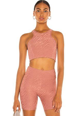 TWENTY MONTREAL Women Sports Bras - Bali Tiger 3D Activewear Crop Sports Bra in Pink.