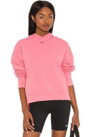 Nike Women Hoodies - NSW Wash Hoodie in Pink.